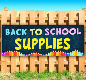 Back To School Supplies Banner
