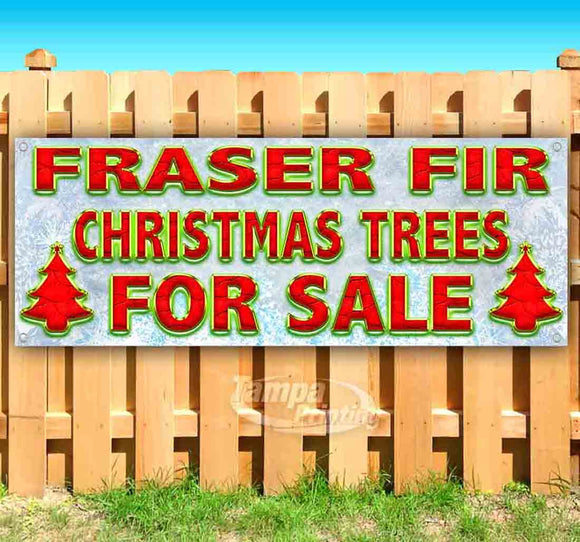 Fraser Fir Christmas Trees For Sale Banner