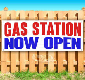 Gas Station Now Open Banner