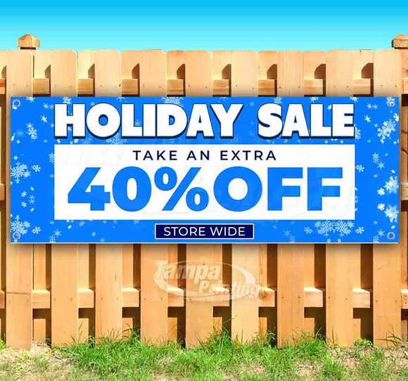 Holiday Sale 40% Off BlueSF Banner