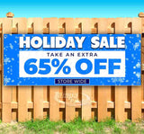 Holiday Sale 65% Off BlueSF Banner