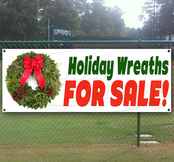 Holiday Wreath Sale Banner