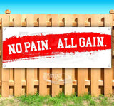 No Pain All Gain Banner