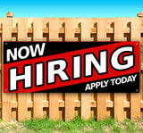 Now Hiring Apply Today Banner