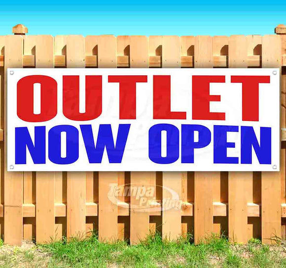 Outlet Now Open Banner