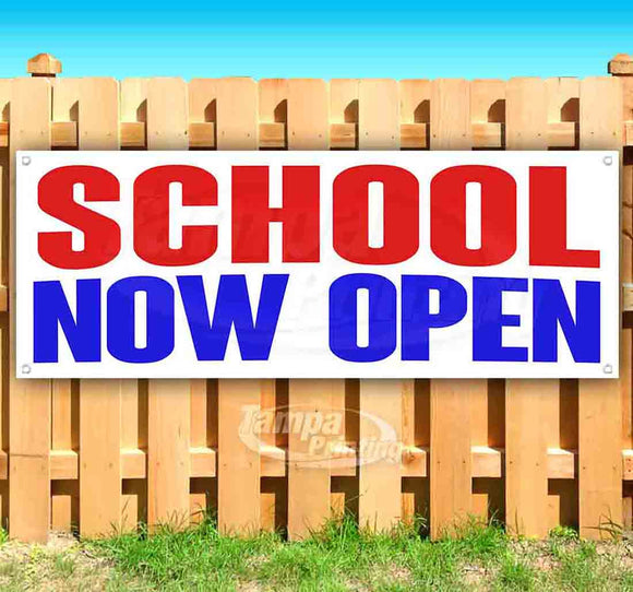 School Now Open Banner