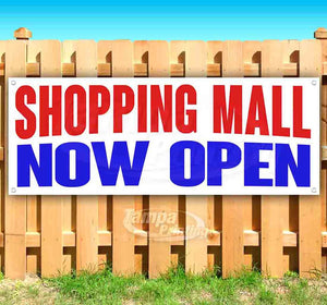 Shopping Mall Now Open Banner