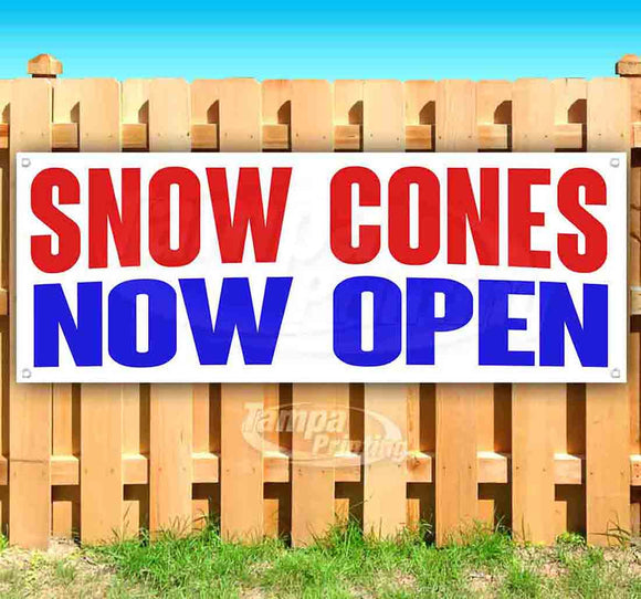 Snow Cones Now Open Banner