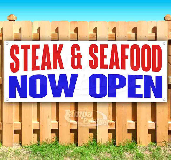 Steak & Seafood Now Open Banner
