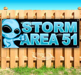 Storm Area 51 UFO Blue Banner