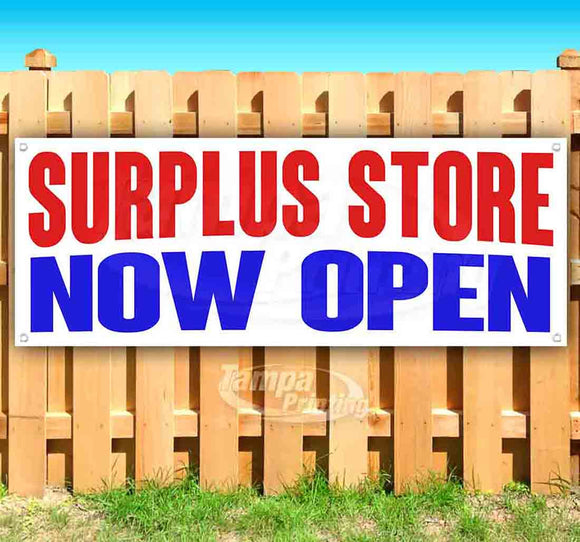 Surplus Store Now Open Banner