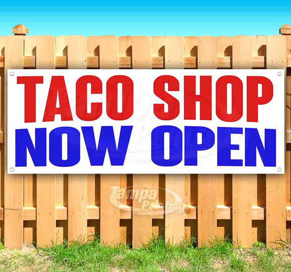 Taco Shop Now Open Banner