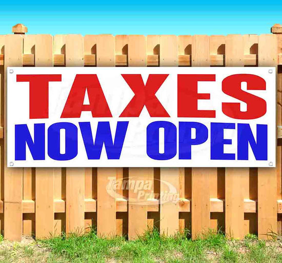 Taxes Now Open Banner