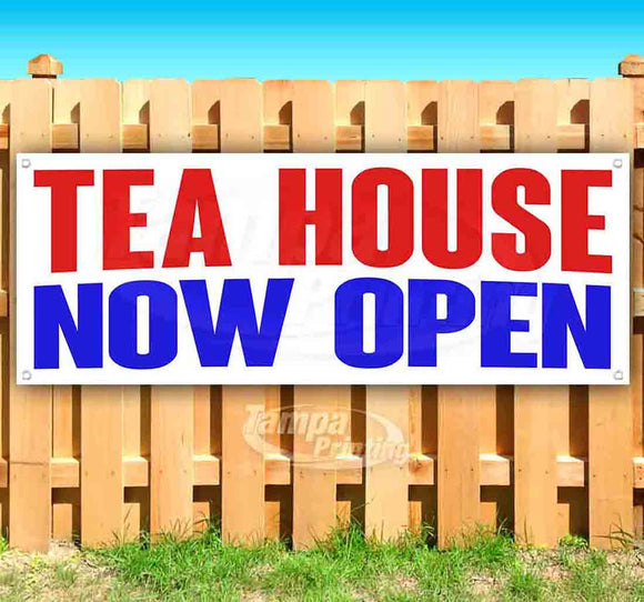 Tea House Now Open Banner
