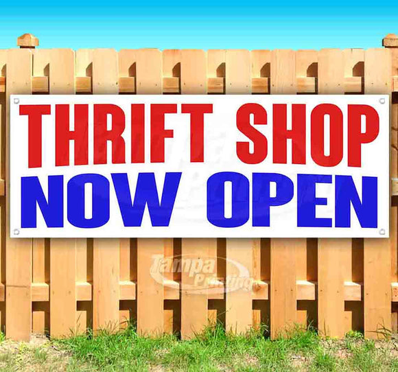 Thrift Shop Now Open Banner