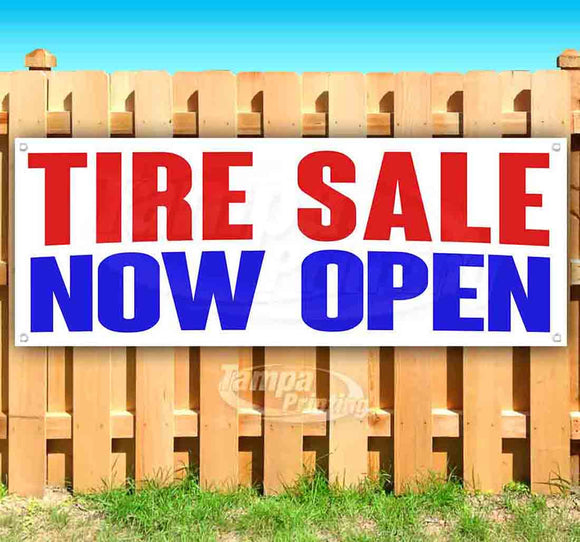 Tire Sale Now Open Banner