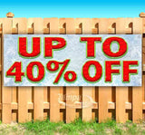 Up To 40% Off Banner
