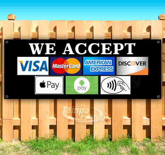 We Accept Different Payment Methods Banner