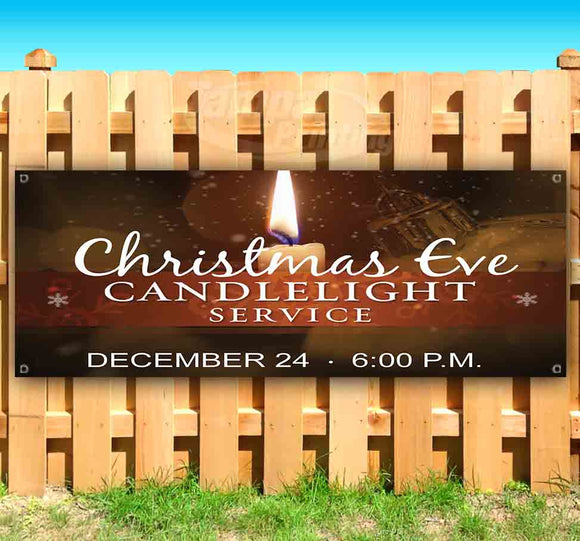 Christmas Eve Candle Light Service Banner