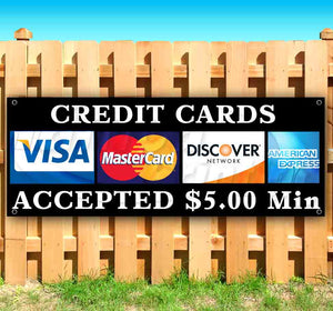 Credit Cards Accepted Banner
