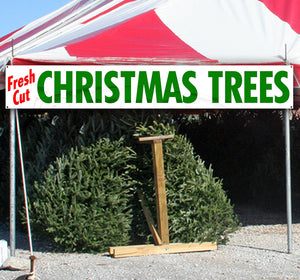 Fresh Cut Christmas Trees XL Banner