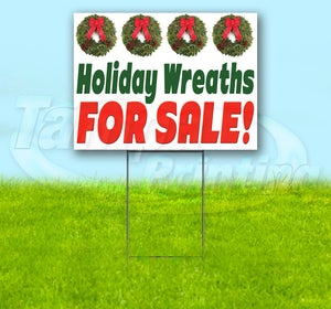 Holiday Wreaths For Sale Yard Sign