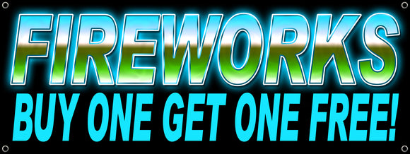 Fireworks Buy One Get One Free Banner