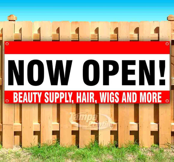 Now Open Beauty Supply Hair Wigs And More Banner