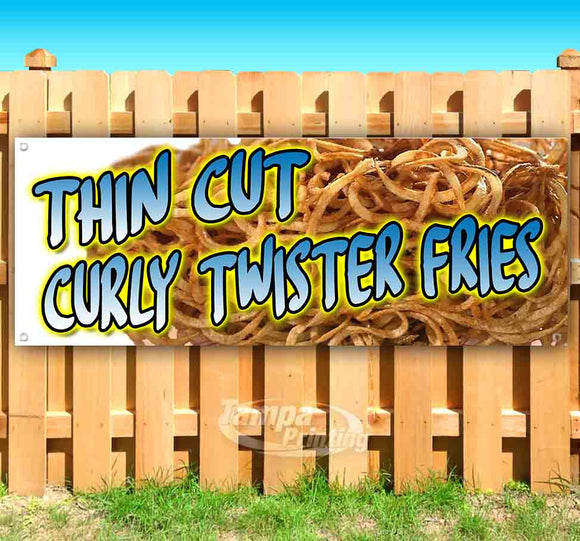 Thin Cut Curly Fries Banner