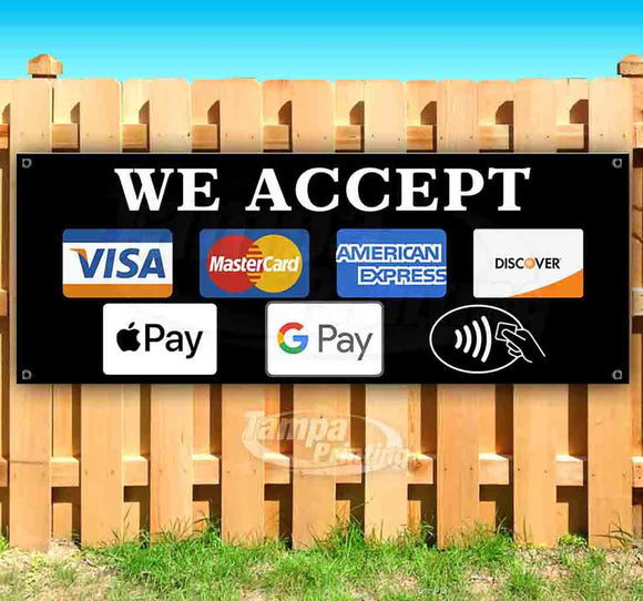 We Accept Different Payments Banner