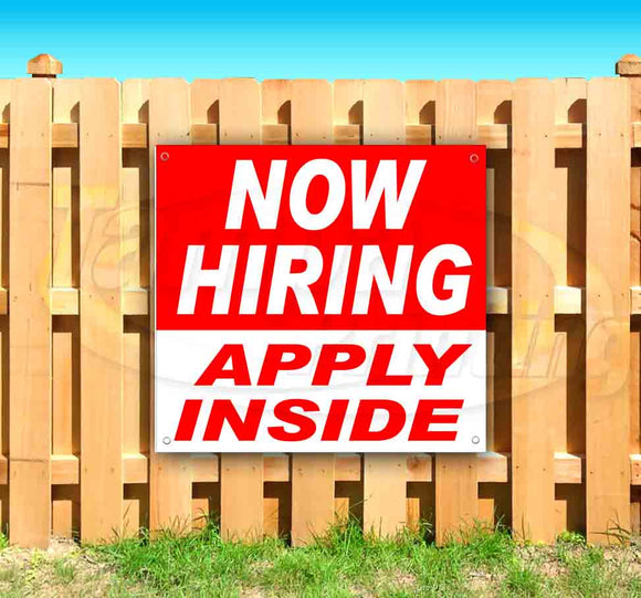 Now Hiring Apply Inside SQUARE Banner
