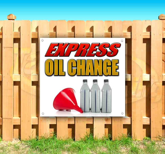 Express Oil Change SQUARE Banner