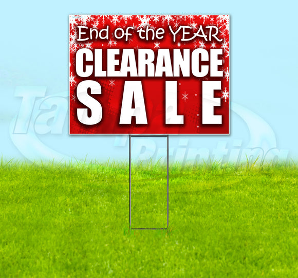 End Of Year Sale Yard Sign