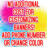 Minor Design Changes Banner, Banners, Signs, Flags, Vinyl Banners
