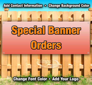 Special Banner Orders