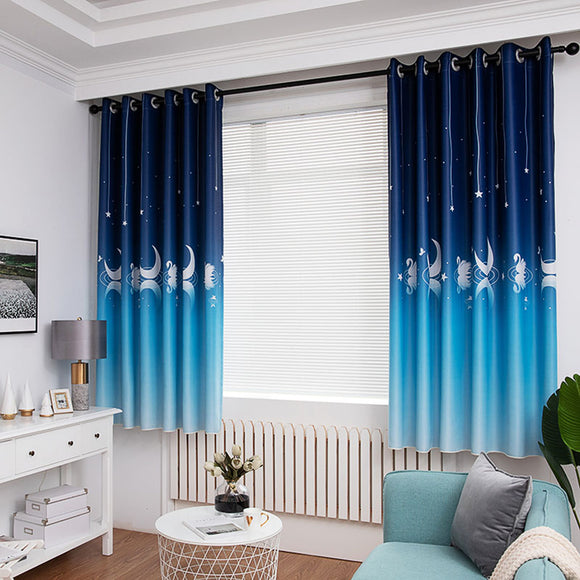 White Swan Blackout Curtains for Living Room Luxury Tulle Curtains For Bedroom Royal Blue Purple Window Curtain Fabric/ Finished