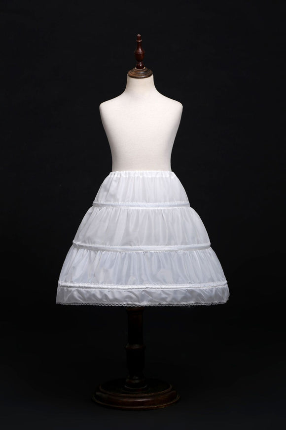 Petticoat Sweet Cute White Skirt for Girls Dress for Girls Steel Ring with Bone Support Skirt Accessories 55-65CM