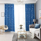 Moon And Stars Curtains For Bedroom Windows Blackout Curtains For Kids Girls Living Room White Pink Green Blue Grey Beige Korean
