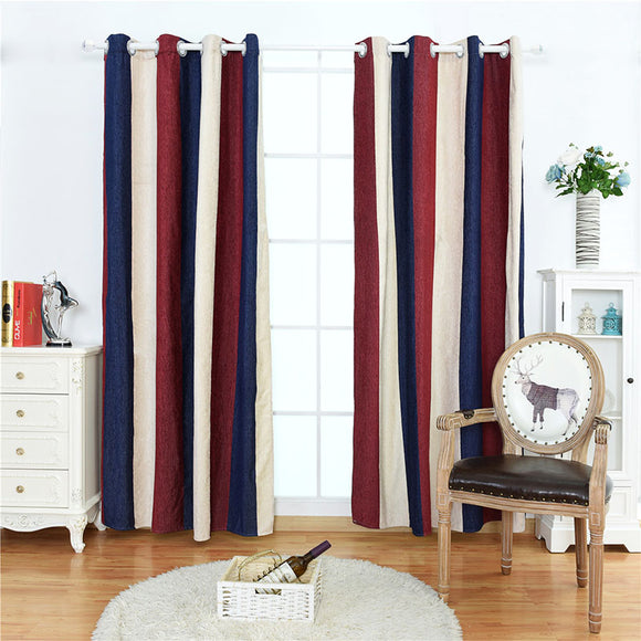 Stripe Blackout Curtains For The Bedroom Living Room Kitchen Modern Thicken Window Curtain Panels Colorful Drape Chenille Fabric