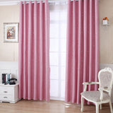 Silver Star Blackout Curtains For Living Room Bedroom White Tulle Sheer Curtains Fabric Drapes Window Treatments Short Blue Pink