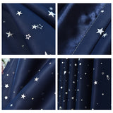 Blackout Curtains For Living Room Bedroom Silver Star White Tulle Sheer Curtains Fabric Drapes Window Treatments Short Blue Pink