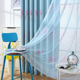 Blackout Curtains Drapes For Girl Lavender Printed Window Curtain Living Room Bedroom Kitchen Blue Pink Short Long
