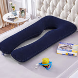 Inflatable Pregnancy Pillow U Shape Sleeping Support Pillow For Pregnant Women Cozy Bump Maternity Pillow Full Body Side Sleeper