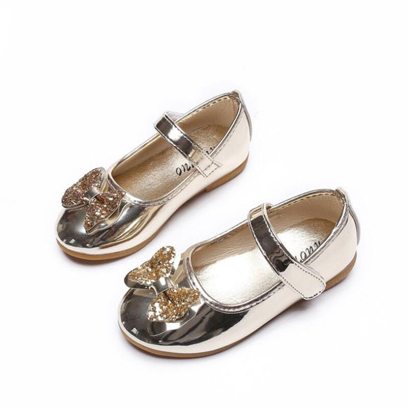 Children's shoes Girls Sandals Sequins Bow Princess Shoes Girls Casual Shoes Dance Shoes