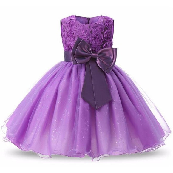 Girls Dress Long Sleeve Party Dress Elegant Wedding Dress For Girls Kids Clothes Clothing Princess Dress