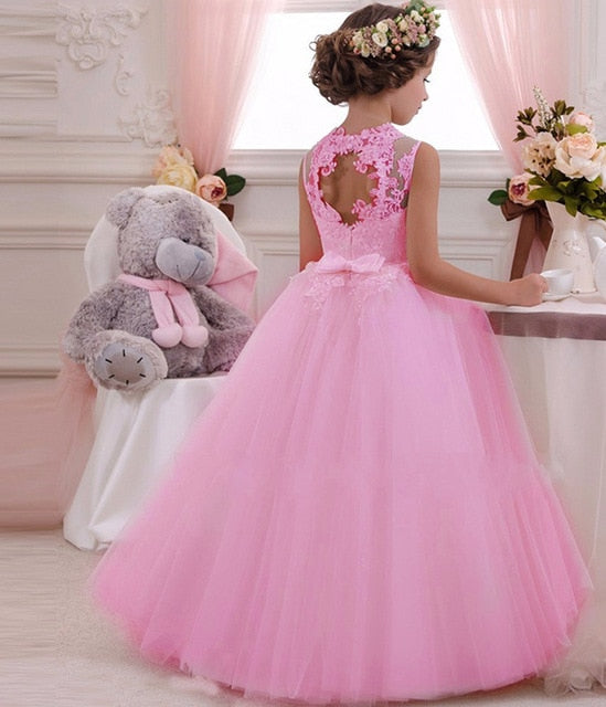 Girls Evening Party Dress Kids Dresses For Girls Children Costume Elegant Princess Dress Flower Girls Wedding Dress