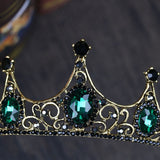 Crystal Crown Tiaras Headwear Wedding Bridal Hair Accessories For Girls Kids Flower Girl Tiara Headpieces Green
