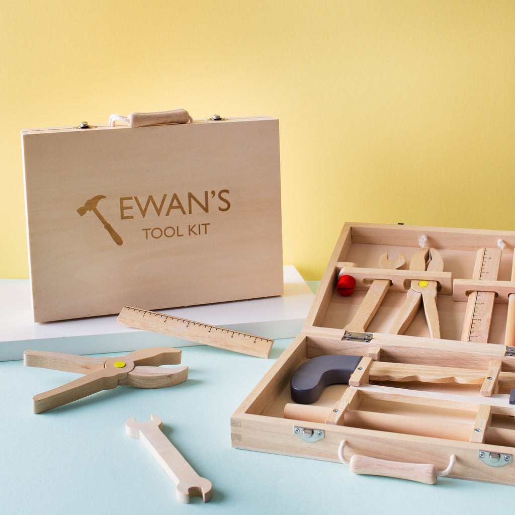 Personalised Wooden Tool Kit Toy