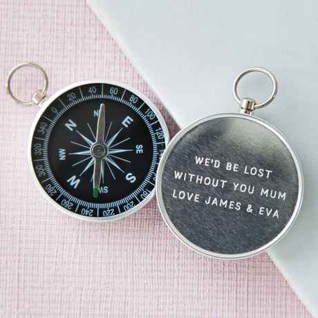 Personalised Mother's Day Engraved Compass