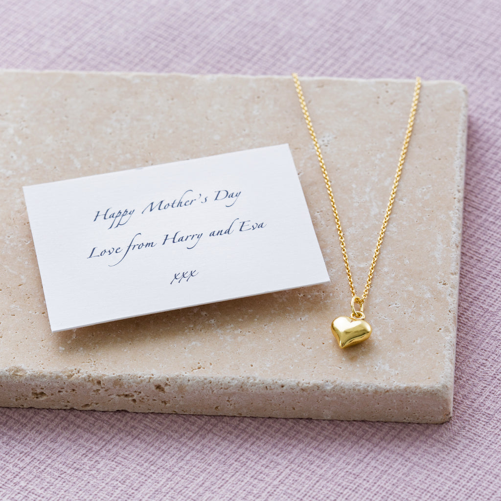 Personalised Mother's Day Heart Of Gold Necklace